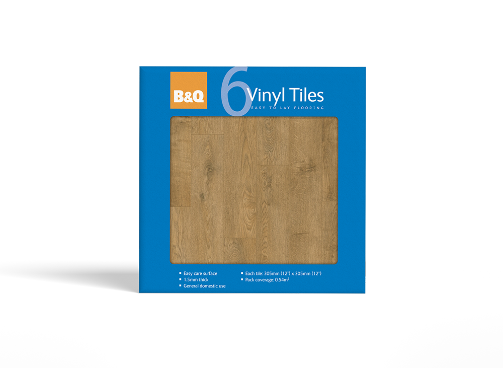B&Q Vinyl Tile and Vinyl Plank Packaging Design by Laban Brown Design Essex, London