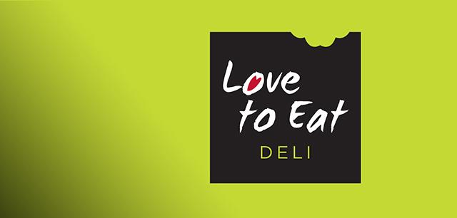 Love to Eat Deli Brand Logo and Brand Identity Design by Laban Brown Design Essex London