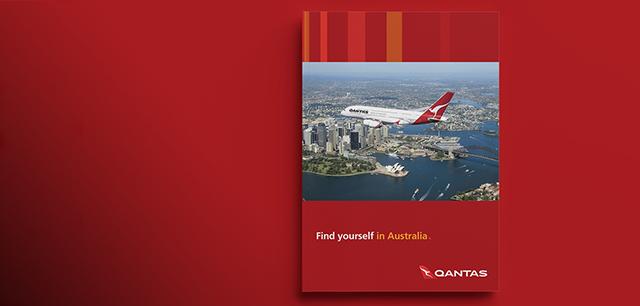 Qantas Airlines Fly to Australia Brochure Design by Laban Brown Design Essex London