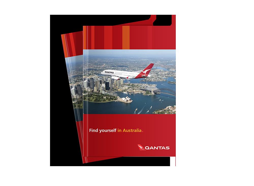 Qantas Airlines Find Yourself in Australia Sales Brochure Design by Laban Brown Design Essex, London